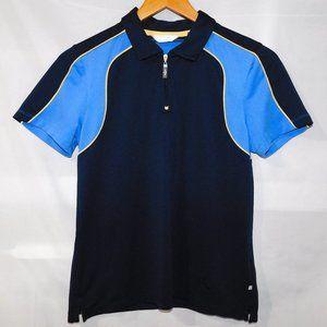 Callaway Womens M Blue 1/4 Zip Golf Polo Shirt